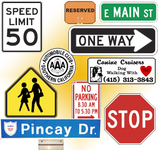 Traffic Control Signs, Street Signs, Guide Signs, Work Zone Products, Logos, and more...
